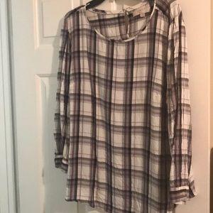 Loft plaid blouse